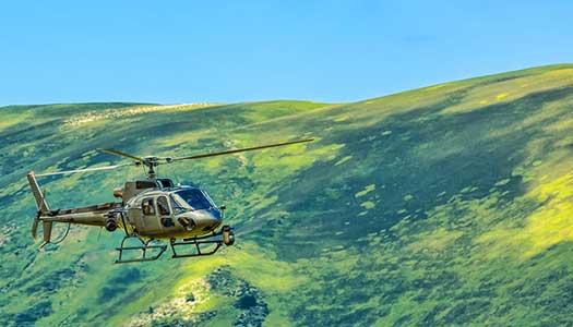 volo in montagna con elicottero